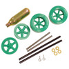 ABS Dragster Wheel Kit with CO2 Cartridge, Green