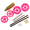 ABS Dragster Wheel Kit with CO2 Cartridge, Pink