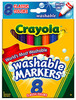 Crayola Washable Broad Line Classic Colors Markers 8-Piece