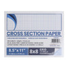 """Pacific Arc Cross Section Drawing Paper 8x8 grid, 100 sheet packs, 8-1/2"""" x 11"""""""