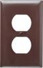 Pass & Seymour Duplex Plate, Brown