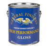 General Finishes High-performance Polyurethane Water-Based Topcoat, Gloss, Gal.