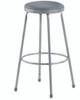 """Krueger Upholstered Seat Stool, Fixed-height, 18""""H"""