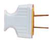 Pass & Seymour Flat Handle Straight Blade Plugs, White