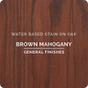 General Finishes Water-based Wood Stain, Brown Mahogany, Qt.