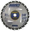 "Irwin Carbide-tipped Circular Saw Blade, Marathon Series, 7-1/4"", 24 TPI"