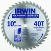 "Irwin Classic Series Saw Blade 10"" x 40T"