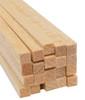 "Bud Nosen Balsa Wood Strips, 1/4"" x 1/4"" x 36"", 20/pkg."