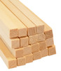 "Bud Nosen Basswood Strips, 1/4"" x 1/4"" x 24"", 20/pkg."