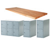 """Midwest Work Bench with 10 Lockers, 2-1/4"""" Top"""
