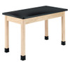 """Diversified Woodcrafts 2-Student Science Table ChemGuard Top, 60""""W x 24""""D x 30""""H"""
