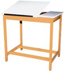 Diversified Woodcrafts 2-Piece Adjustable Drawing Table w/Drawers