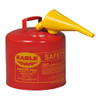 Eagle Type 1 Safety Can w/Funnel, 5 gal.