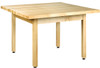 """Diversified Woodcrafts 4-Student Table 1-1/4"""" Laminate Top, 48""""W x 48""""D x 30""""H"""