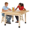 """Diversified Woodcrafts 4-Student Table 1-3/4"""" Maple Top, 48""""W x 48""""D x 26""""H"""