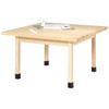 "Diversified Woodcrafts 4-Student Table 1-3/4"" Maple Top, 48""W x 48""D x 30""H"