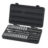 "GearWrench 3/8"" Drive 12-Point Standard & Deep SAE/Metric Sockets, 57-Piece Set"