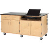 Diversified Woodcrafts Interactive Mobile Media Cabinet