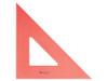 """Alvin Triangle, Fluorescent Orange, 45/90, 8"""""""