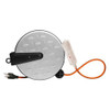 Coleman Cable Retractable Metal Cord Reel w/3-Outlets, 30' 16/3
