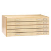 Diversified Woodcrafts Flat File Systems 5-Drawer Flat File, Maple