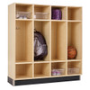 Diversified Woodcrafts Backpack Locker 4-Section