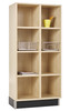 Diversified Woodcrafts Wood Cubby Unit 2-Section