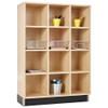 Diversified Woodcrafts Wood Cubby Unit 3-Section