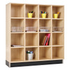 Diversified Woodcrafts Wood Cubby Unit 4-Section