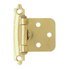 Brainerd Self-Closing Overlay Hinges, Brass