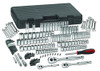 """GearWrench 1/4"""", 3/8"""" and 1/2"""" Drive 6 Point SAE/Metric Mechanics Tool Set, 165-Piece"""