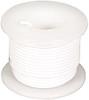Elenco 22 Ga. Solid Hook-Up Wire, White, 25'