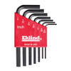 Eklind L-Hex Key Set Fractional Molded Holder 7-Piece Short