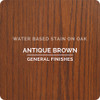 General Finishes Water-based Wood Stain, Antique Brown, Qt.