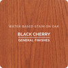 General Finishes Water-based Wood Stain, Black Cherry, Qt.