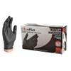 Ammex GlovePlus Black Nitrile Gloves, Medium