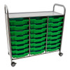 Gratnells Callero Plus Treble Cart in Silver with 24 Trays