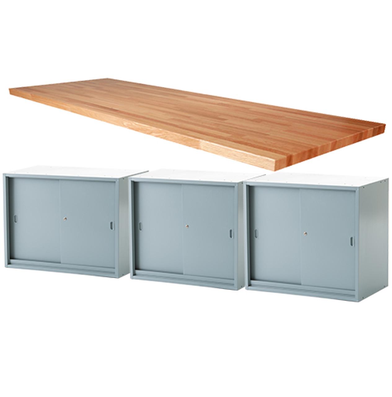Astounding Midwest Work Bench With 3 Sliding Door Units 1 3 4 Top Beatyapartments Chair Design Images Beatyapartmentscom