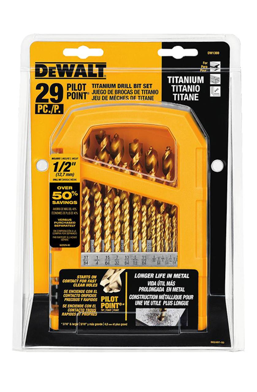 Dewalt 29 Piece Titanium Pilot Point Drill Bit Set Midwest Technology Products