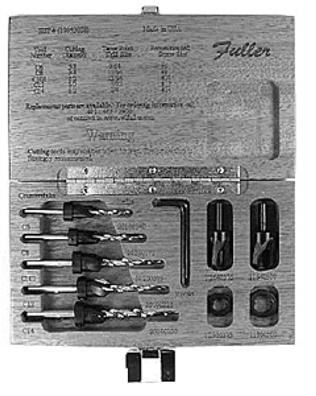 """W.L Fuller C-8 3//8/"""" Type /""""C/"""" Countersink for 11//64/"""" Drill Bits"""