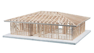 Midwest Products 1 Story Hip Roof House Framing Kit Midwest Technology Products