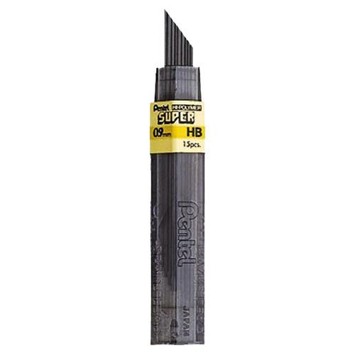 Pentel Super Hi-Polymer Refill Leads, 0.9 mm HB