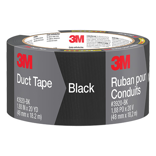 "3M Duct Tape, Black, 2"" x 20 yd."