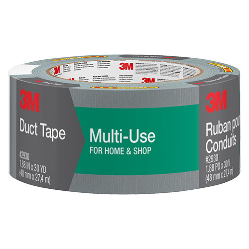 """3M Multi-Use Duct Tape, Silver, 2"""" x 30 yd."""