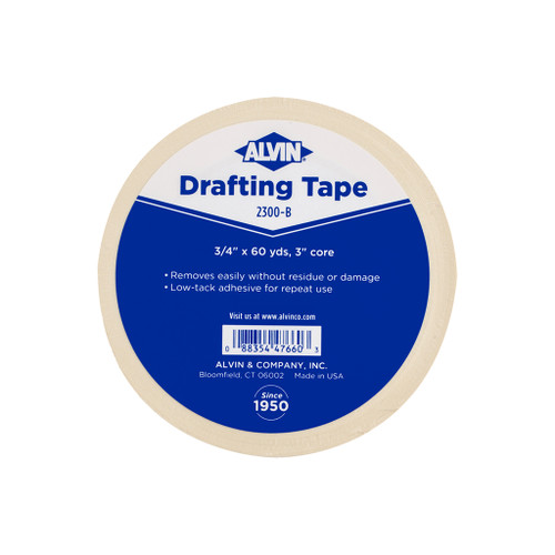 "Alvin Opaque Drafting Tape, 3/4"" x 60 yd."