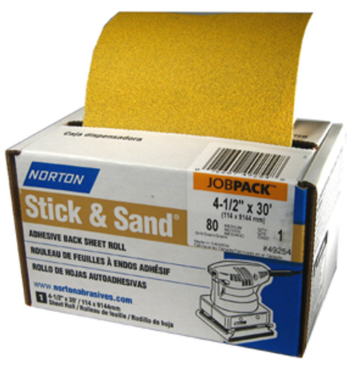 """Norton MultiSand 4-1/2"""" Adhesive-backed Sanding Roll, 180 Grit"""