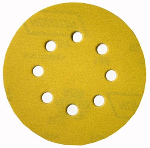 "Norton 5"" Eight-Hole Hook & Loop Paper Sanding Discs, 120 Grit, Qty. 25"
