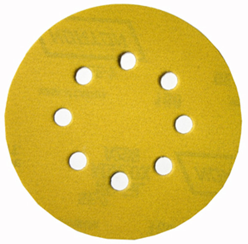 "Norton 5"" Eight-Hole Hook & Loop Paper Sanding Discs, 60 Grit, Qty. 25"