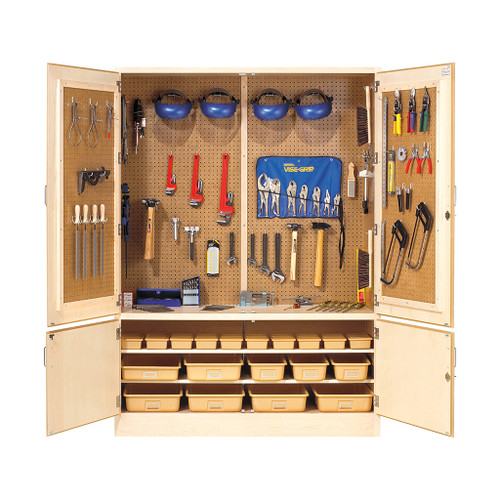 """Diversified Woodcrafts 60"""" Tech Ed Tool Cabinet with Tools"""