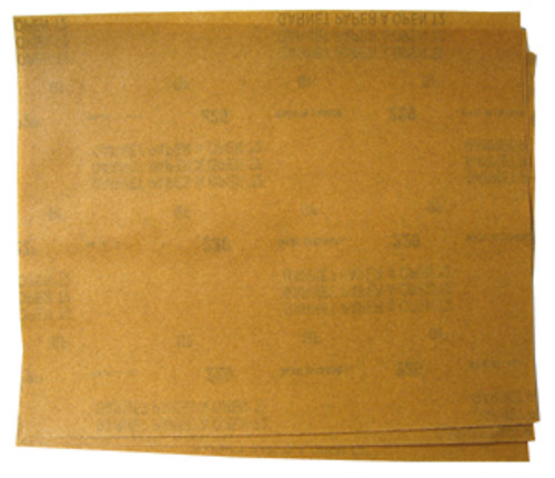 "Norton Garnet Sandpaper 9"" x 11"" Finish Paper, 220-A Grit"
